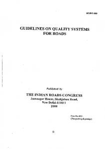 GUIDELINES ON QUALITY SYSTEMS FOR ROADS - yimg.com