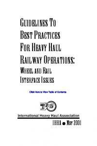guidelines to best practices for heavy haul railway ...