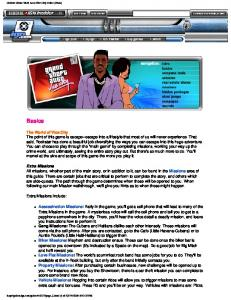 Guides: Grand Theft Auto Vice City Guide (Xbox) - Spumonte