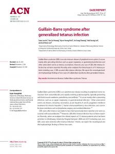 Guillain-Barre syndrome after generalized ... - KoreaMed Synapse