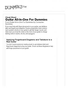 Guitar All-In-One For Dummies Cheat Sheet