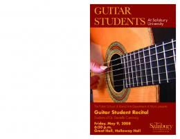 Guitar Student Recital - Salisbury University