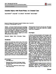 Gunshot Injury with Facial Palsy: An Unusual Case - Springer Link