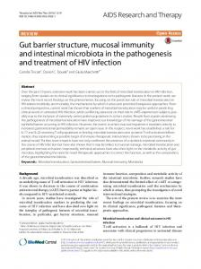 Gut barrier structure, mucosal immunity and intestinal microbiota in the ...