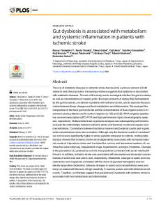 Gut dysbiosis is associated with metabolism and ... - Semantic Scholar