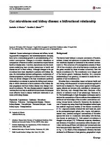 Gut microbiome and kidney disease: a bidirectional