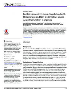 Gut Microbiota in Children Hospitalized with ... - Semantic Scholar