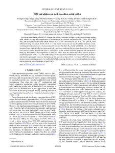 GW calculations on post-transition-metal oxides - APS Link Manager