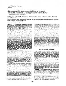 H-2-incompatible bone marrow chimeras produce ... - Europe PMC