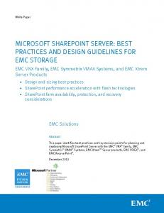 H12468: Microsoft SharePoint Server: Best Practices and Design ...