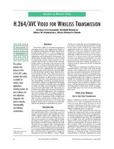 H.264/AVC VIDEO FOR WIRELESS TRANSMISSION - IEEE Xplore