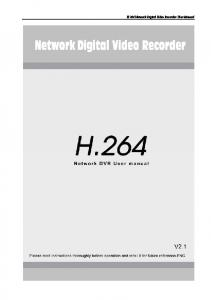 H.264 Network Digital Video Recorder User Manual - Sat-Serwis