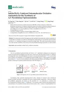 H2O2 Catalyzed Intramolecular Oxidative Amination for the