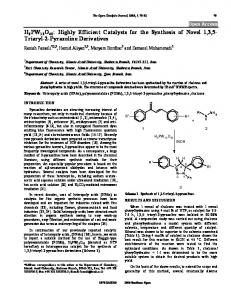 H3PW12O40: Highly Efficient Catalysts for the