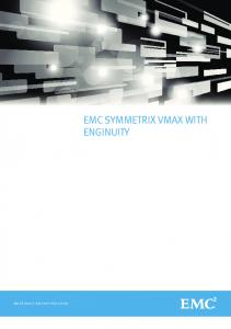 H6544.5 EMC Symmetrix VMAX with Enginuity, Guide