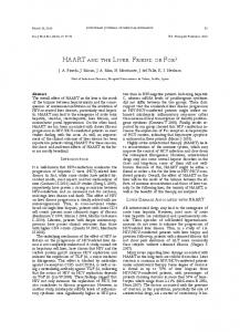 HAART And THE LIvER: FRIEnd oR FoE?