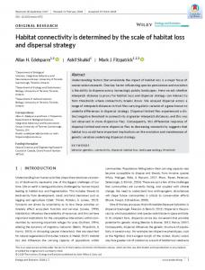 Habitat connectivity is determined by the scale ... - Wiley Online Library