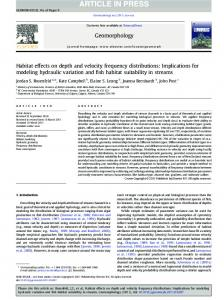 Habitat effects on depth and velocity frequency distributions - CiteSeerX