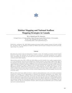 Habitat Mapping and National Seafloor Mapping ... - CiteSeerX