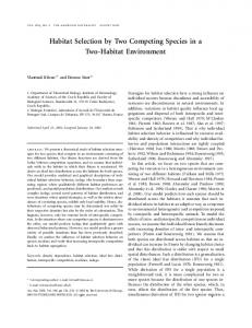 Habitat Selection by Two Competing Species in a Two-Habitat ...