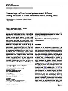 Haematology and biochemical parameters of ... - Semantic Scholar