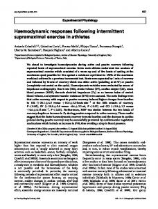 Haemodynamic responses following intermittent ... - Wiley Online Library