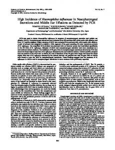 Haemophilus influenzae - Journal of Clinical Microbiology - American ...