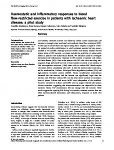 Haemostatic and inflammatory responses to blood flowrestricted ...