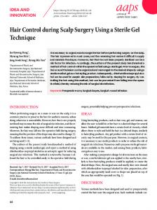 Hair Control during Scalp Surgery Using a ... - KoreaMed Synapse