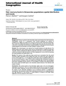 Hair mercury levels in Amazonian populations: spatial distribution and ...