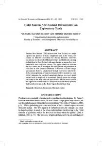 Halal Food in New Zealand Restaurants - faculty of economics and ...