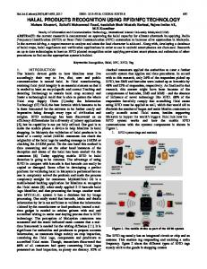 halal products recognition using rfid/nfc technology - Science ...