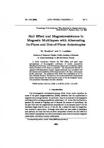 Hall Effect and Magnetoresistance in Magnetic Multilayers with ...