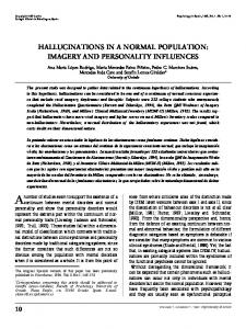 hallucinations in a normal population - Psychology in Spain
