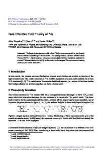 Halo Effective Field Theory of 6He - EPJ Web of Conferences