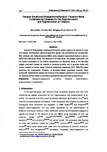 Halogen Substituted Bis(arylimino)Pyridine Transition Metal