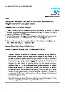 Halophilic Archaea: Life with Desiccation, Radiation and Oligotrophy ...