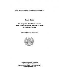 HAM-Tools - Chalmers Publication Library