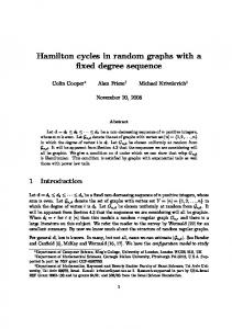 Hamilton cycles in random graphs with a fixed degree ... - CiteSeerX