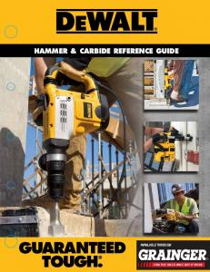 HAMMER & cARbidE REfEREncE guidE