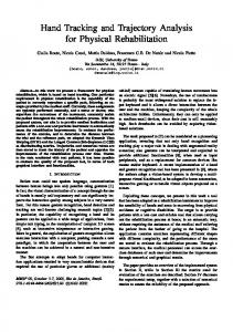 Hand Tracking and Trajectory Analysis for Physical ... - Semantic Scholar