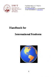 Handbook for International Students