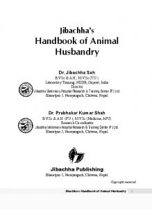Handbook of Animal Husbandry