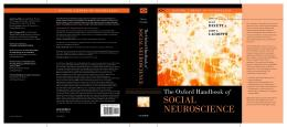 Handbook of Social Neuroscience