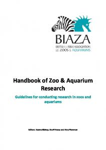 Handbook of Zoo & Aquarium Research