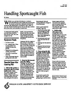 Handling Sportcaught Fish - OSU - Oregon State University