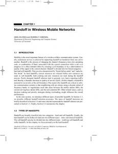 Handoff in Wireless Mobile Networks - Department of Computer and ...