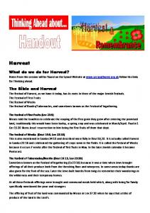 Handout for Harvest & Remembrance - United Reformed Church ...