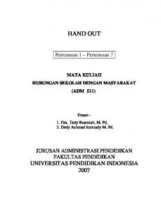 Handout Humas - File UPI - Universitas Pendidikan Indonesia