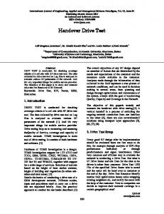 Handover Drive Test (PDF Download Available)
